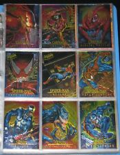 1995 Fleer Ultra Spider-Man MASTERPIECES Insert Set of 9 Cards NMM, Marvel