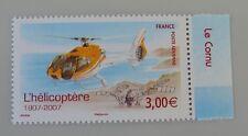 France année 2007 poste aerienne 70 70a neuf luxe ** hélicoptère bord de feuille
