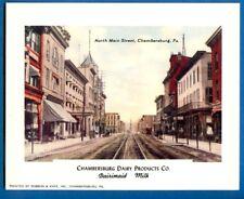 No. Main Street, Chambersburg, PA - Adv C'burg Dairy Products, Dairimaid Milk