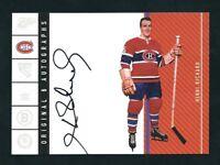2003-04 Parkhurst Original Six Autograph Henri Richard Montreal Canadiens /85