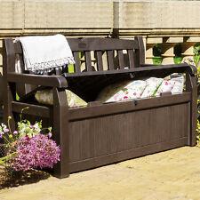 Outdoor Patio Storage Bench Chair Box Deck Garden Porch Yard Seat 2 Adult Bin