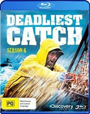 Deadliest Catch : Season 6 (Blu-ray, 2011, 4-Disc Set) New Region B