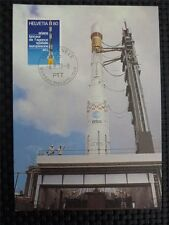 SWISS MK 1979 SPACE ROCKET ARIANE WELTRAUM MAXIMUMKARTE MAXIMUM CARD MC CM c1358