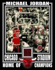 MICHAEL JORDAN CHICAGO BULLS LAST SHOT 8x10 PHOTO W/ CHICAGO STADIUM SEAT