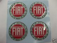 Wheel Center Emblem Set for Fiat 49mm -NEW- #867