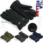 Fleece Glove Warm Insulated Gloves Winter Ski Snow Thermal Insulation Unisex New