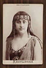 Mlle Suzanne Munte, Actrice Théâtre, Cabinet card, Photo Reutlinger Paris