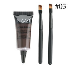Waterproof Brown Tint Eyebrow Henna With Mascara Eyebrows Paint Brush Beauty 2X