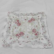 Vintage Floral Handkerchief 12 Inch Square Rolled Edges