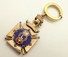 FABULOUS ANTIQUE GOLD FILLED AND SILVER ENAMEL ODD FELLOWS POCKET WATCH FOB