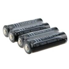 4x Protected 18650 6000mAh 3.7V Rechargeable Li-ion Battery Flashlight torch