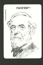 Robert E Lee American Civil War General 1989 Face 'Em Collector Card