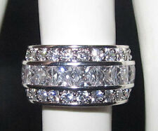 Wide Band Infinity Ring White Gold new All sizes Show Stopping Eternity Jewelry