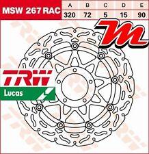 Disque de frein Avant TRW Lucas MSW 267 RAC pour Ducati 848 Evo H6 2011-