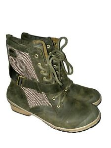 Sorel Slimboot in Nori GreenSize 10.5 waterproof combat style