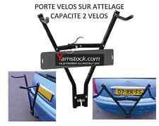 Porte vélo de voiture auto  sur attelage + porte plaque immatriculation