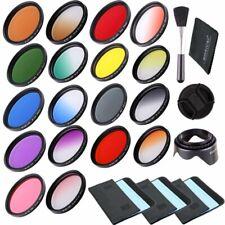 18pcs Filter Kit 55mm Full Color Filter & Graduated Color Filter For Camera Lens