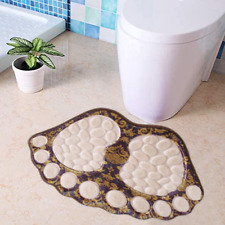 Non-Slip Big Feet Bath Toilet Mat Doormat Absorbent Mats Bathroom Rugs 16'x24'