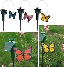 Fluttering Flying Butterfly Solar Powered Outdoor Patio Garden Outdoor Ornament