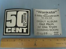 50 Cent 2002 Wanksta Promotional Sticker New Old Stock Flawless Condition