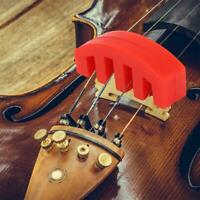 1P Violin Practice Mute Heavy Red Rubber Violin Silencer Acoustic Electric Sound
