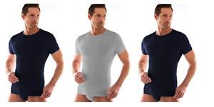 3 t shirt corpo uomo LIABEL mezza manica scollo a V e girocollo cotone