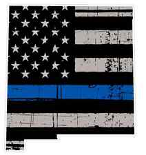 New Mexico State (V32) Thin Blue Line Vinyl Decal Sticker Car Laptop Cop