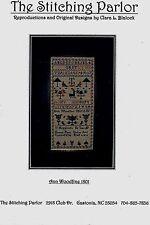 ANN WOODFINE 1801 SAMPLER-CROSS STITCH CHART-THE STITCHING PARLOR