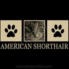 American Shorthair Cat Portrait T-Shirt Tee - Men Women's Youth Tank Short Long
