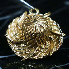14k gold vintage HAWAII LAUHALA STRAW HAT charm