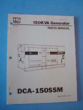 MQ Power 150KVA Generator  DCA-150SSM Parts  Manual S/N 3624664~  816 12 01