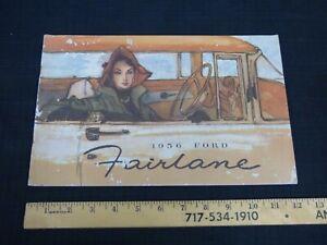1956 FORD Fairlane - Original Prestige Color Catalog Dealer Car Brochure