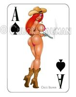 JESSICA RABBIT SHOOTIN' FROM THE HIP pin-up playing card style sticker decal