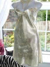 "Shiny Slinky Satin Short Nighty Nightgown Nightdress 35-36"" Worn [W35"