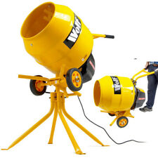Wolf 135L Drum Portable Concrete Mortar Double Insulated Barrel Electric Cement Mixer with Stand