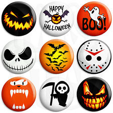 Halloween Badges - Various Designs - 25mm Button Badge with Fridge Magnet Option