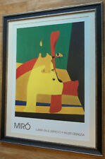 Flame in Space & Nude Woman - Joan Miro, 60x80cm frame, vintage abstract print