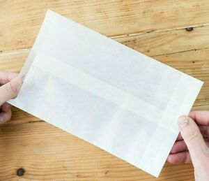 LARGE GLASSINE ENVELOPES / PACKETS 195 x 127 IDEAL FOR CRAFT/HOME MADE PRODUCTS