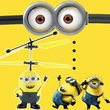 Cool  Mini Aircraft Helicopter Flying Induction Despicable Me Quadcopter Drone