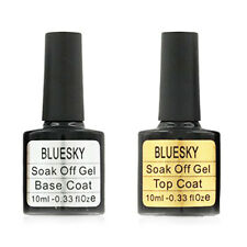 Bluesky Top and Base Coat Gel Nail Polish 10ml Fast 1st Class FREE UK Postage!