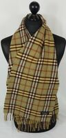 BURBERRY SCARF 100% LAMBSWOOL MADE IN ENGLAND #A680