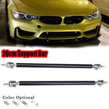 2x Black 20cm Adjustable Bumper Lip Air Splitter Support Rods Strut Tie Bar