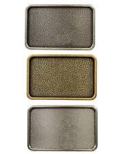 """Plain Vintage Belt Buckle Rectangular Blank Buckle fits 1-1/2"""" (38mm) Wide Strap"""