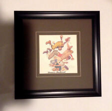 Norman Rockwell Hand Signed Lithograph Framed Football Original Lithograph