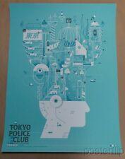 Tokyo Police Club Chicago Screenprint Poster Delicious Design League xx/80