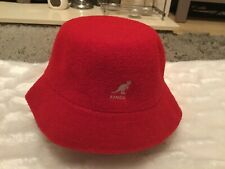 Kangol Cherry Red Boucle Terry Bucket Hat. Size Medium.