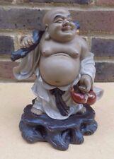GRANDE Figura MUDMAN Cinese-Buddha Felice
