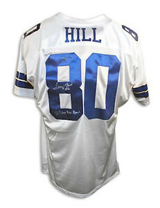 """Autographed Tony Hill Jersey White Throwback Inscribed """"3 Time Pro Bowl"""""""