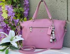 Coach 34340 Prairie marshmallow pink Pebble Leather crossbody satchel Purse Bag