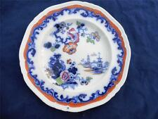 Vintage Flow Blue REA IRONSTONE CHINA Floral Dragon Oriental Design Plate